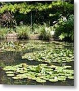 Lily Pond View Monets Garden Metal Print