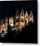 Limburg Cathedral At Night Metal Print