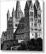 Limburg Cathedral Beautiful Detailed Woodblock Print Metal Print by Christos Georghiou