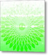 Lime Green Spirograph Metal Print