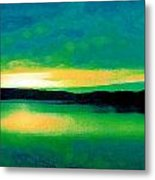 Lime Sunset Metal Print
