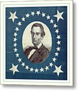 Lincoln 1860 Presidential Campaign Banner - Bust Portrait Metal Print