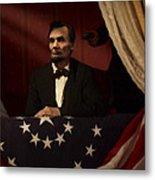Lincoln At Fords Theater 2 Metal Print
