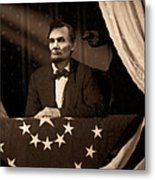 Lincoln At Fords Theater Metal Print