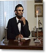 Lincoln At His Desk 2 Metal Print