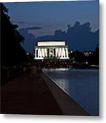 Lincoln By Night Metal Print