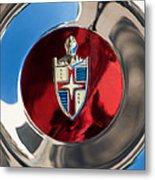 Lincoln Capri Wheel Emblem Metal Print by Jill Reger