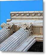 Lincoln County Courthouse Columns Looking Up 01 Metal Print