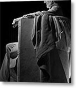 Lincoln In Black And White Metal Print