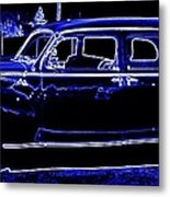 Lincoln In Neon Metal Print