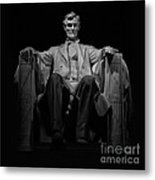 Lincoln In Solitude Metal Print