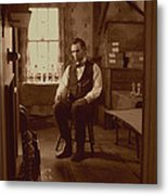 Lincoln In The Attic Metal Print by Ray Downing