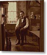 Lincoln In The Attic Metal Print