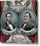 Lincoln Johnson Campaign Poster Metal Print by Marvin Blaine