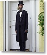 Lincoln Leaving A Building 2 Metal Print by Ray Downing