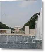Lincoln Memorial And Fountain - Washington Dc Metal Print