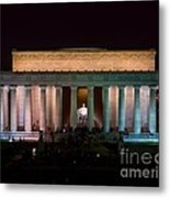 Lincoln Memorial At Night Metal Print