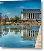 Lincoln Memorial Reflection Metal Print