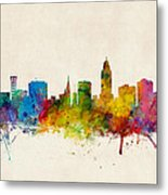 Lincoln Nebraska Skyline Metal Print