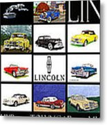 Poster Of Lincoln Cars Metal Print