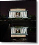 Lincoln Reflection Metal Print