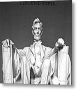 Lincoln Sitting Metal Print