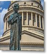 Lincoln Stands Guard Metal Print