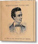 Lincoln Temperance, 1842 Metal Print