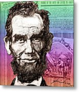 Lincoln's Billboard Of History Metal Print