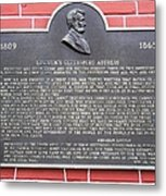 Lincoln's Gettysburg Address Plaque Metal Print