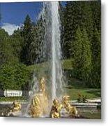 Linderhof Fountain Metal Print