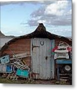 Lindisfarne Boat House Holy Island Metal Print