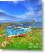 Lindisfarne By The Sea Metal Print