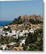 Lindos Acropolis Looking Seaward Metal Print