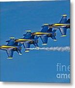 Line Astern- Blue Angels Metal Print