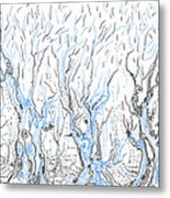 Line Forest Metal Print