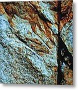 Line In The Rock Metal Print