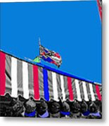 Line Of Hats Tent Us Confederate Flags Tucson Arizona 1984-2012 Metal Print