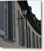 Line Of Shuttered Windows Metal Print