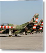 Line-up Of Hellenic Air Force T-2 Metal Print