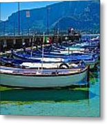 Lined Up Fleet In Sicily Metal Print