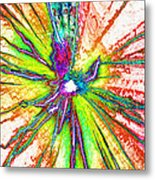 Lines Of Color Metal Print