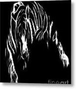 Lines Of The Tiger Metal Print