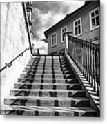 Lines On The Stairs Metal Print