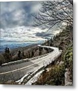 Linn Cove Viaduct During Winter Near Blowing Rock Nc Metal Print