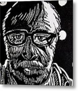 Lino Cut Charlie Spear Metal Print by Charlie Spear