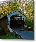 Linton Stevens Covered Bridge Metal Print