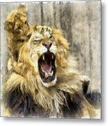 Lion 15 Metal Print