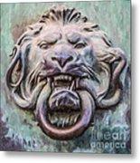 Lion And Snake Metal Print