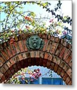 Lion Arch With Flowers Metal Print